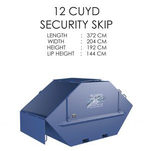 12 CUYD Security Skip Storage Solution