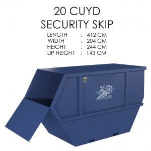 20 CUYD Security Skip Storage Solution